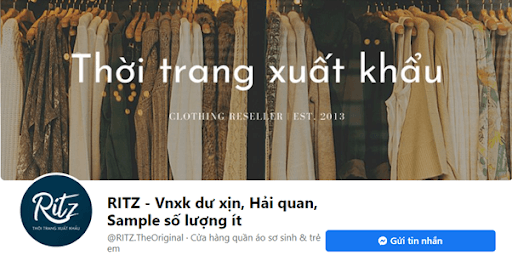 Page của Thời trang RITZ