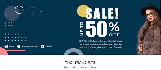 Website của Thời trang RITZ