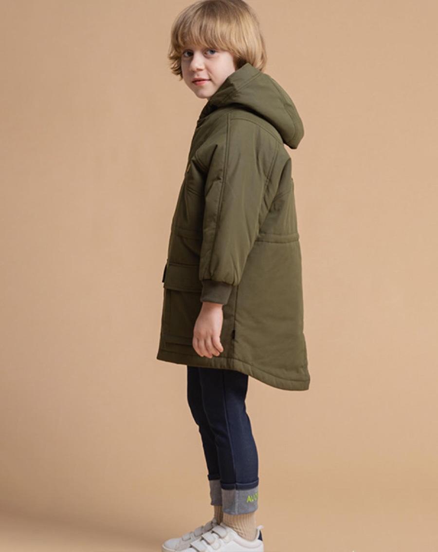 Áo khoác trần bông dáng dài