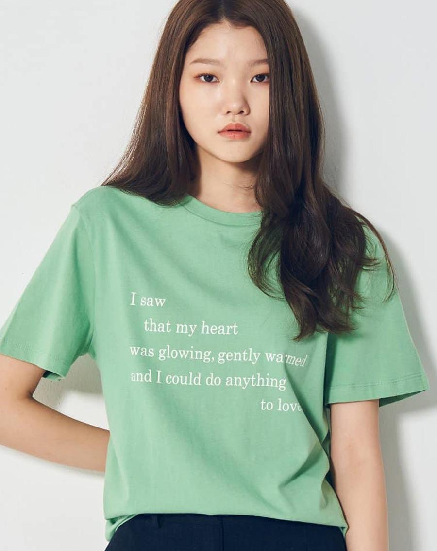 Áo phông in chữ xuất Hàn