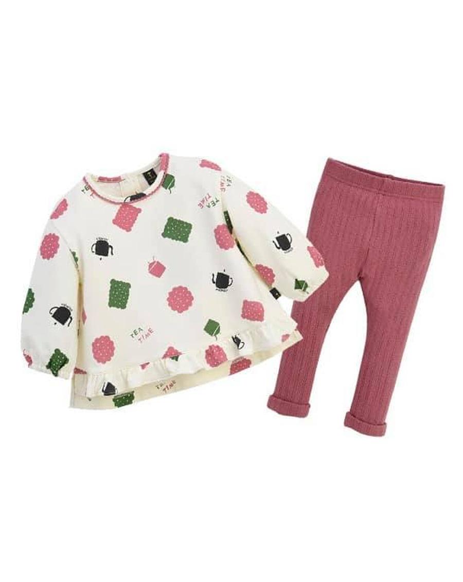 Set bé gái Áo váy + Legging len Xuất Hàn