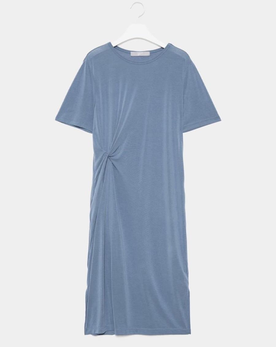 Váy suông xoắn eo