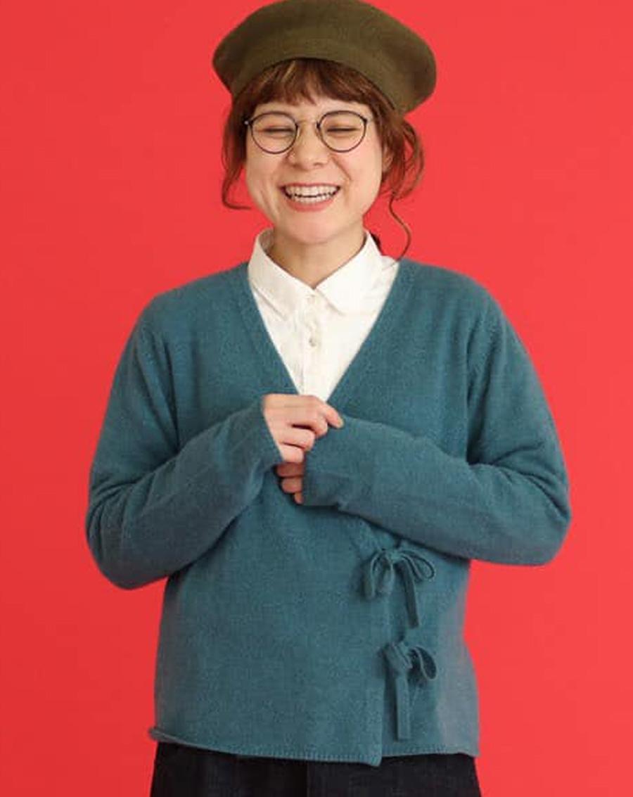 Áo len Nhật thắt nơ