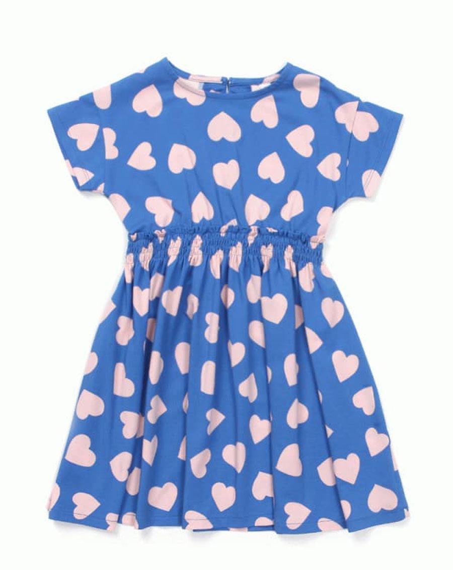Váy cổ tròn họa tiết trái tim