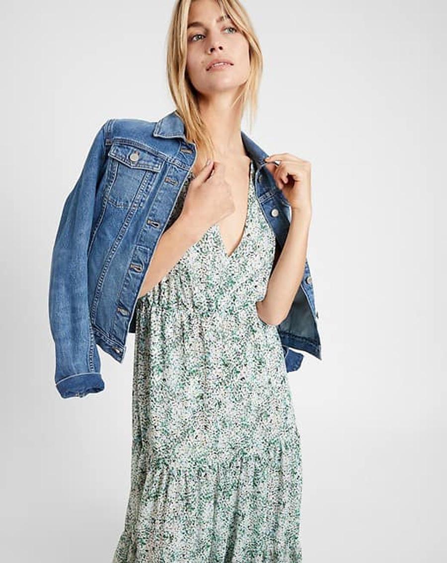 Váy maxi hoa nhí